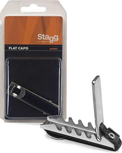 Stagg SCPM-F - Cejilla para guitarra para guitarra clásica, color plateado