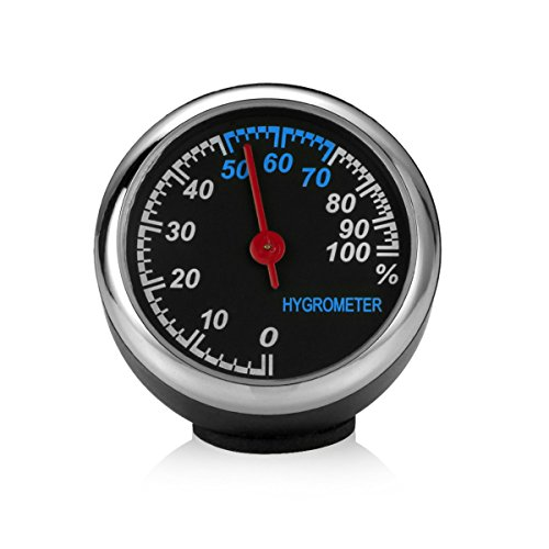 Queenbox® Mini Auto Automobil Digitaluhr Auto Uhr Automotive Thermometer Hygrometer Dekoration Ornament Uhr In Autozubehör (Automobil-digital-kompass)