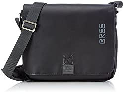 BREE Punch 61, black, shoulder bag 83900061 Unisex-Erwachsene Schultertaschen 26x6x21 cm (B x H x T), Schwarz (black 900)