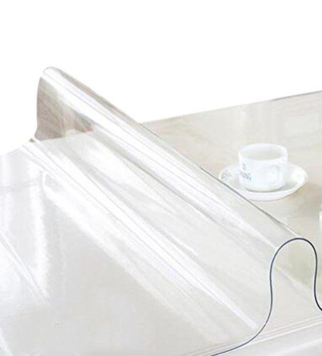 ZKOO Manteles PVC Suave Cristal impermeable Mantel Transparente Tapetes de Mesa Decoración...