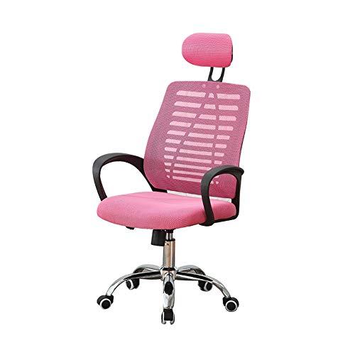 Hyjgjzjh Gaming Stuhl Racer Gaming Stuhl Bürostuhl Schreibtischstuhl Pc Stuhl Chefsessel Zocker Stuhl Ergonomischer Computerstuhl Drehstuhl Mit Einstellbaren Armlehnen (Color : Pink)