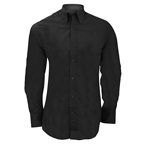Kustom Kit - Camicia Manica Lunga da Lavoro - Uomo Nero