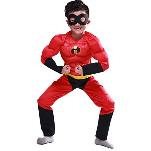 Costour Jungen Supermann The Incredibles Pixar Cartoon Cosplay Kostüm Halloween Kanerval Fasching