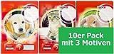 LANDRE 100050052 Schulheft 10er Pack A4 32 Blatt Lineatur 7 - kariert 3 Motive sortiert