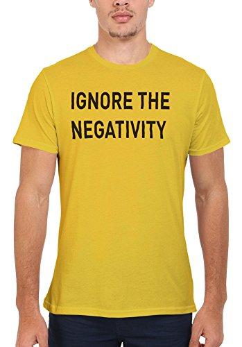Ignore the Negativity Men Women Damen Herren Unisex Top T Shirt Licht Gelb