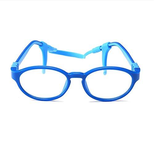 Anglayif montatura per occhiali da vista per bambini in silicone senza montatura per occhiali da vista (color : blue)
