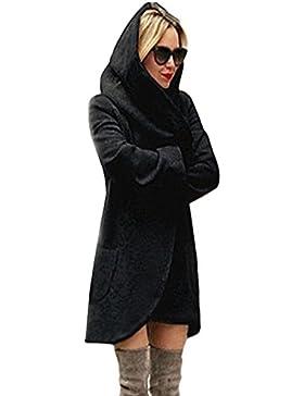 Minetom Mujer Clásicos Color Sólido Otoño Invierno Cárdigan Abrigo Hoodies Casual Sudadera Con Capucha Chaqueta...