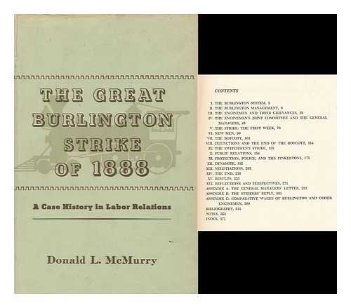 The great Burlington Strike of 1888: a case history in labor relations Burlington Oxford
