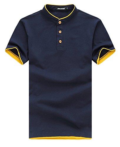 BICMART Herren Poloshirt Marineblau