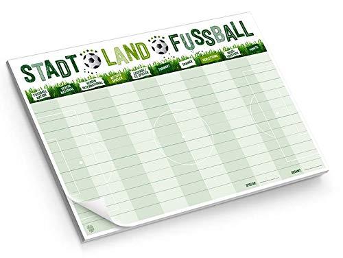 Unbekannt Familie von quast Stadt Land Fussball-die Variante des Spieleklassiker als Spielblock mit 50 Blatt Papier, Größe DIN A4