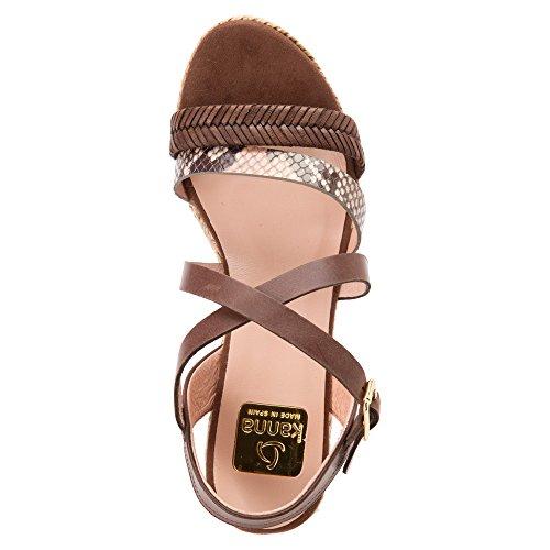 KANNA Sandaletten Damen Dunkelbraun