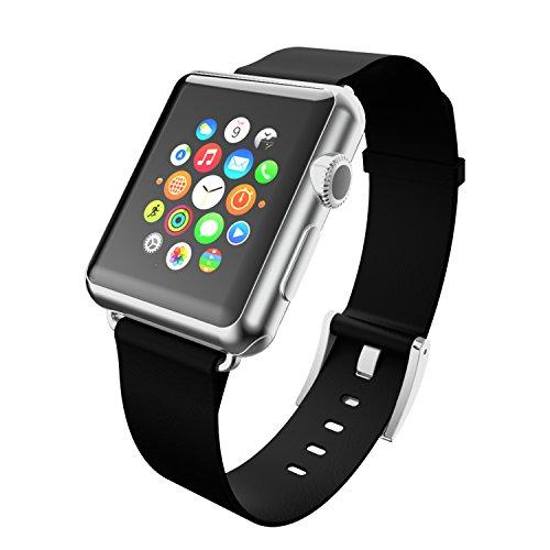 Image of Incipio Premium Echtleder-Band für alle 38mm Apple Watch Modelle/Watch Series 2/Watch Series 3/Nike+ [Apple Watch | Apple Watch Sport | Apple Watch Edition] - schwarz