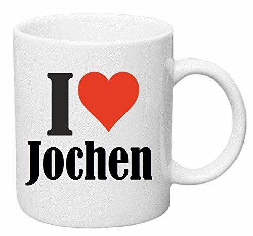 Reifen-Markt Kaffeetasse I Love Jochen Keramik Höhe 9,5cm ? 8cm in Weiß - 9.5 Jochen