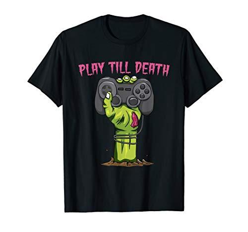 Play Till Death Zombie Gamer Halloween Kostüm Geschenk - Zombie Nerd Kostüm Kinder