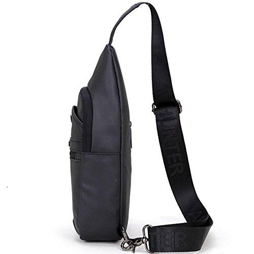 Corsa di viaggio del panno di Throttle Oxford impermeabile 34 * 16.5 * 7 foro della cuffia grande sacchetto del sacchetto del petto della signora maschio di capacità , Black Black