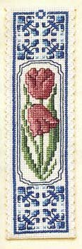 Textile Heritage Collection Cross Stitch Bookmark Kit - Delft