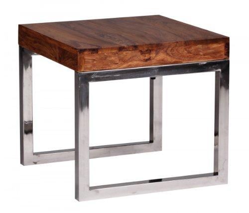 Beistell- bzw. Nachttisch aus Massivholz Sheesham; Maße (B/T/H) in cm: 45 x 45 x 40