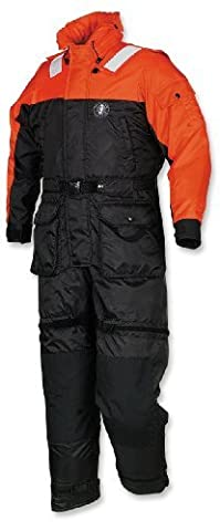 Mustang Survival Deluxe Anti-Exposure Coverall and Worksuit, Orange/Black, Large by