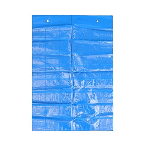 Toyvian Classroom Pocket Chart hängende Lernkarte Handys Inhaber Organizer Bag (blau) (Pocket Kalender Chart)