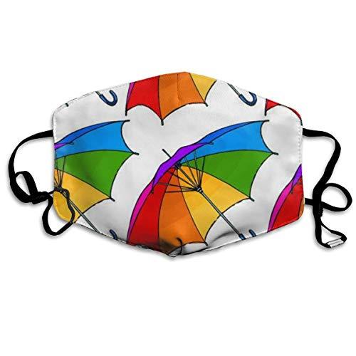 Máscara Facial Unisex Antipolvo, Hecha de Paraguas Colorido, Reutilizable, para niños, Adolescentes, Hombres y Mujeres