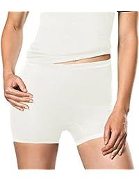 -con-ta- Damen - Angora Baumwolle - Pagen-Schlüpfer - warme Funktions-Unterwäsche Nicht nur für den Winter Größe 38-52 Woll-Weiß Schwarz - 801-1070
