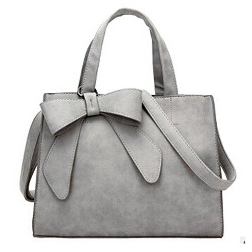Kangrunmy borse tracolla bianche,moda donna carino bow borsetta crossbody spalla borse (beige)