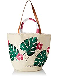 MTNG Manjud, Bolso mochila para Mujer, Multicolor (Rafia Natu Cam Fuc) 21x32x45 cm…