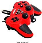 Ergonomically designed, this controller fits comfortably in your hands for a session of exciting gameplay. This gamepad features a 4-way D-pad on the left and 4 multi-purpose action buttons on the right. The 2 analog thumbsticks provide you with a ra...