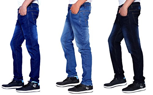 London Looks Men Slim Fit Multi Color Jeans Combo Of 3 (30)