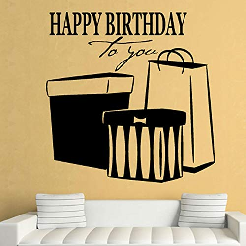 29x29cm happy birthday to you wandsticker gegenwart home decor hebt vinyl abnehmbaren mode wohnzimmer dekoration