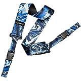 DiMarzio DD2240 Steve Vai 2 '' Nylon ClipLock Guitar Strap Blue Universe w/Bonus RIS Pick (x1) 663334046368