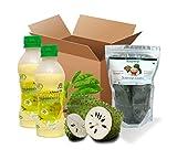 Soursop Pack (2 Soursop Juice + 150 Dry Leaves Packet)