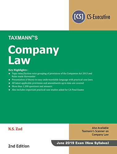 Company Law (CS-Executive) (June 2019 Exam-As per New Syllabus) (2nd Edition January 2019) Descargar ebooks PDF