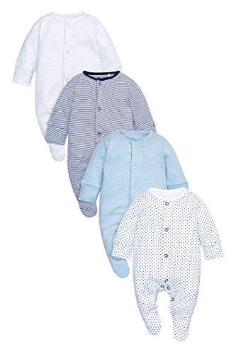 next Bebé Niño Paquete De Cuatro Pijamas Peleles De Algodón Suave Estampados Diferentes (0 Meses-2 Años)
