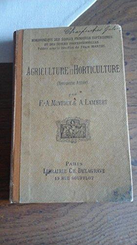 Agriculture et horticulture 3e année