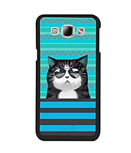 Fuson 2D Printed Cat Designer back case cover for Samsung Galaxy A8 - D4332