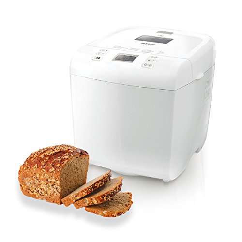 Philips Cucina Daily Collection HD9015/30 Macchina del Pane con 12 programmi Pre-Impostati, Timer Integrato, 550 W, 1 Kilogram, Bianco