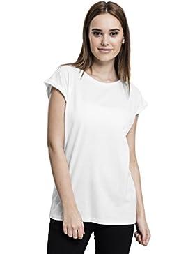 Urban Classics Ladies Extended Shoulder tee, Camiseta para Mujer