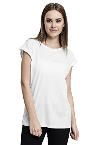 Urban Classics Damen T-Shirt Ladies Extended Shoulder Tee, Farbe White, Größe M