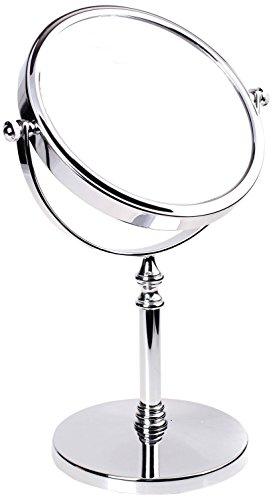 HIMRY Miroir cosmétique Miroir sur Pied Grossissement 5 x, 6 inch, Rotatif à 360 °. verc hromten Miroir grossissant Miroir Salle de Bain Miroir, côtés : Normal + grossissement : X 5, KXD3106–5 x