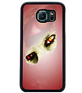 PrintDhaba Feary Eyes D-5019 Back Case Cover for SAMSUNG GALAXY S6 EDGE (Multi-Coloured)