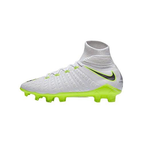 Nike Hypervenom Phantom III Elite DF FG, Zapatillas de Fútbol Unisex Niños, Blanco (Weiß/Gr/Gelb Weiß/Gr/Gelb), 36 EU