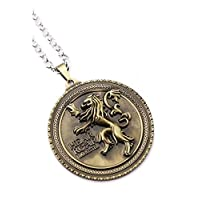 Game of Thrones Lannister Pendant Necklace, Gold