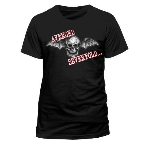 Avenged Sevenfold - Bat Skull Glow New! (T-Shirt Uomo S)