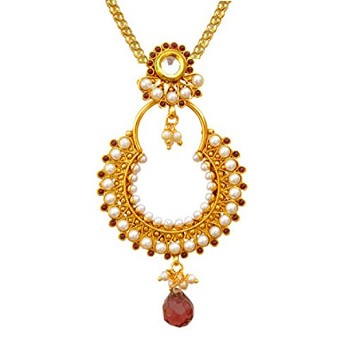 Kundan artificial bridal jewellery sets for wedding necklace set for women girls  available at amazon for Rs.299