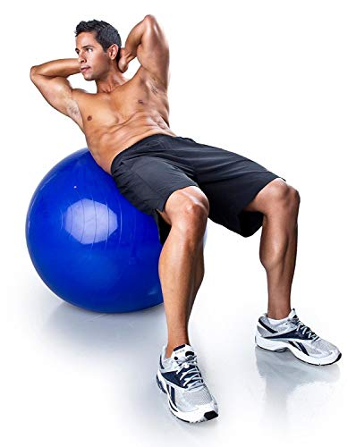 Wolblix Anti-Burst Fitness Exercise Stability Gym Ball/Yoga Ball/Swiss, Birthing, Gym Ball 65 cm with Foot Pump (Random Color)