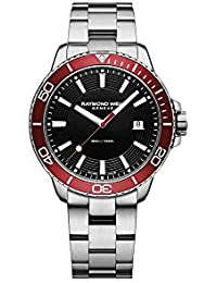 Raymond Weil Tango 300 Quartz Watch, Red/Black, 42mm, Day, 8260-ST4-20001