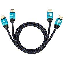 Ultra HDTV Premio – 2x 3m Cavo HDMI 4K | HDMI 2.0b, risoluzione 4K a 60Hz (senza interruzioni), HDR, 3D, ARC