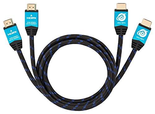 Ultra HDTV Premium 4K HDMI Kabel 2x 2m / HDMI 2.0b, 4K bei vollen 60Hz (keine Ruckler), HDR, 3D