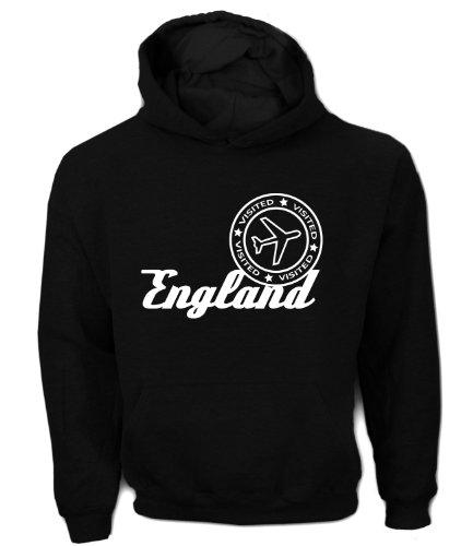 Artdiktat Herren Hoodie - Visited England, Größe XXL, schwarz -
